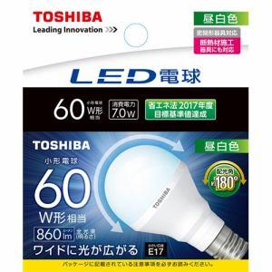 東芝 LED電球 小形電球形 860lm(昼白色相当)E17 広配光タイプ LDA7N-G-E17/S/60W