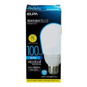 ELPA 電球形蛍光灯A形 100W形 EFA25ED/21-A101