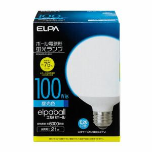 ELPA 電球形蛍光灯G形 100W形 EFG25ED/21-G101
