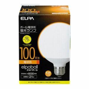 ELPA 電球形蛍光灯G形 100W形 EFG25EL/21-G102