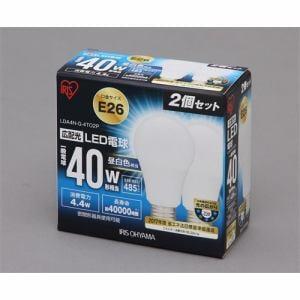 アイリスオーヤマ LDA4N-G-4TO2P LED電球 ( E26 昼白色40W 485lm 2個セット )