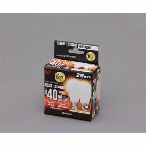 アイリスオーヤマ LDA5L-G-E17-4TO2P LED電球 ( E17 電球色40W 440lm 2個セット )