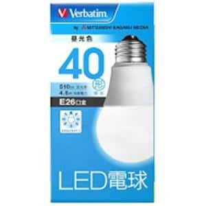 三菱ケミカルメディア LDA5DGV4 LED電球26口金 昼光色 40W相当