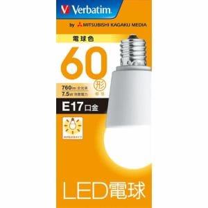 三菱ケミカルメディア LDA8LE17GV4 LED電球17口金 電球色 60W相当