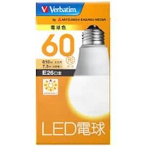 三菱ケミカルメディア LDA8LGV4 LED電球26口金 電球色 60W相当