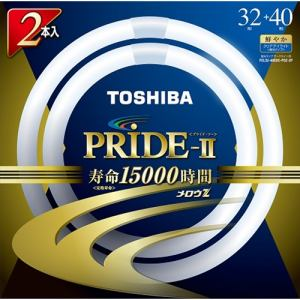東芝 FCL32-40EDC-PDZ-2P 丸形蛍光灯 「メロウZ PRIDE-II」(32形+40形 2本入・Clear-DayLight色)