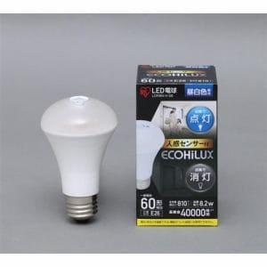 アイリスオーヤマ LDR8N-H-S6 LED電球 人感センサー付 全光束810lm E26口金 60W形相当 昼白色