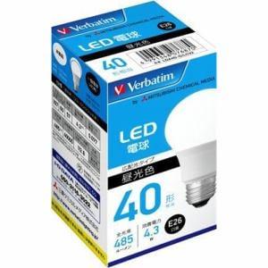 三菱ケミカルメディア LDA4D-G/LCV2 LED電球 40W相当 昼光色