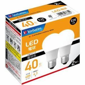三菱ケミカルメディア LDA4L-G/LCV2X2 LED電球 40W相当 電球色