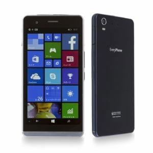【特典付き】[LTE対応] ヤマダ電機オリジナルモデル Windows 10 Mobile SIMフリースマートフォン EveryPhone ブラック