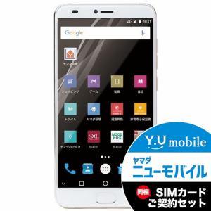 ヤマダ電機オリジナルモデル EP-171ME/G Android搭載SIMフリースマートフォン EveryPhone ME ゴールド&Y.U-mobile ヤマダニューモバイルSIMカード(後日発送)セット