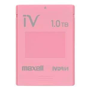 マクセル カラーカセットHDD iV(アイヴィ)ピンク 1TB M-VDRS1T.E.PK