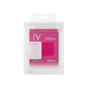 マクセル カラーカセットHDD iV(アイヴィ)マゼンタ 500GB M-VDRS500G.E.MG