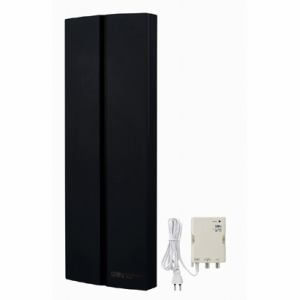 サン電子 SDA-20-4S-K 地上デジタル放送用室内外兼用 ブースタ内蔵型平面アンテナ 垂直偏波専用 ブラック