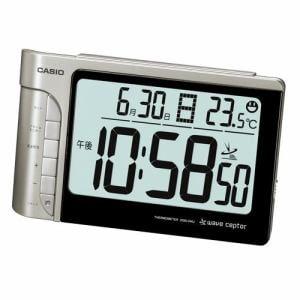 カシオ DQD-240J-8JF 電波時計(置き時計) シルバー デジタル(温度計)タイプ