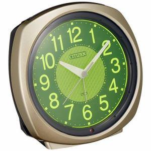 シチズン 8RE638-018 目覚まし時計 サイレントミグ638 夜間自動点灯ライト付