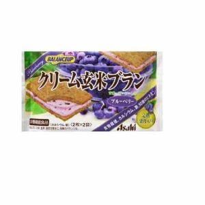 アサヒフードアンドヘルスケア(Asahi) アサヒ バランスアップ クリーム玄米ブランブルーベリー2枚×2袋 【栄養機能食品】