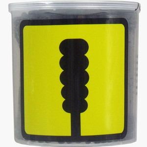 平和メディク ユニバーサルデザイン スパイラル黒綿棒 凸凹型 200本入 【衛生用品】