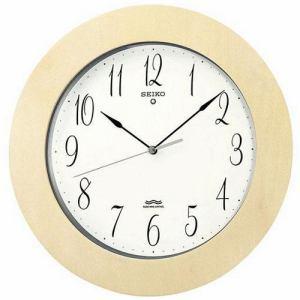 セイコークロック 掛け時計 電波クロック 木枠(白木地塗装) KS239A
