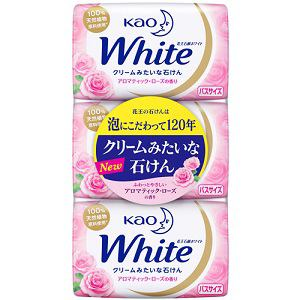 花王 花王ホワイト アロマティックローズの香り バスサイズ 130g×3個入【日用消耗品】