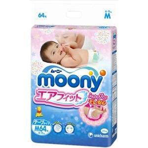 ユニチャーム ムーニーエアフィット テープ Mサイズ 64枚 【日用消耗品】