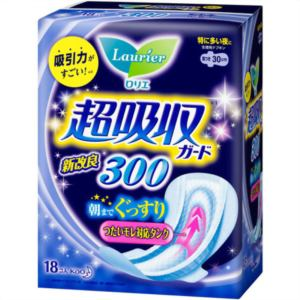 花王 ロリエ スピードプラス 超吸収ガード300 18コ入 【日用消耗品】