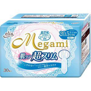 大王製紙 エリス メガミ(Megami) 肌ケア超スリム (ふつう-多い日の昼用) 羽なし 30枚入
