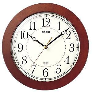 CASIO 壁掛け時計 濃茶木 インテリアクロック IQ-126-5JF