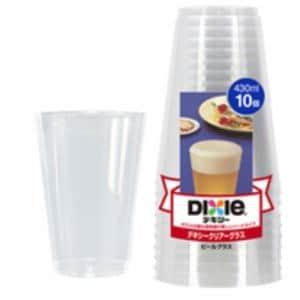 デキシー クリアーグラス ビール 430mL(10コ入)[紙コップ 使い捨て]