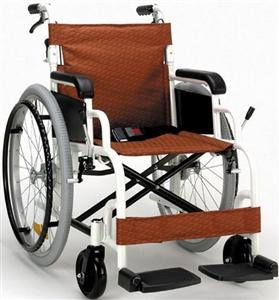 ★限定特価!FKアルミ高級車椅子(自操式)(387)チャコールブラウン