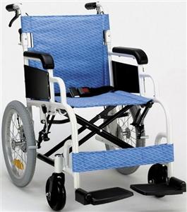 ★限定特価!FKアルミ高級車椅子(介助式)(388)スカイブルー