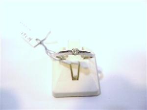 ■K18WGダイヤリング(0.13ct )K161
