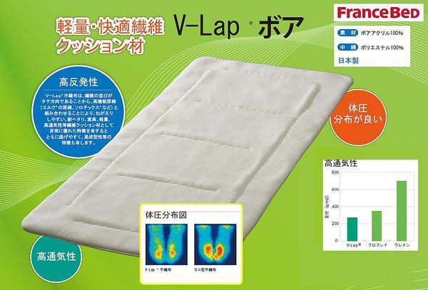 ★フランスベット軽量・快適繊維・日本製【V-LAPボアパッド】ダブル