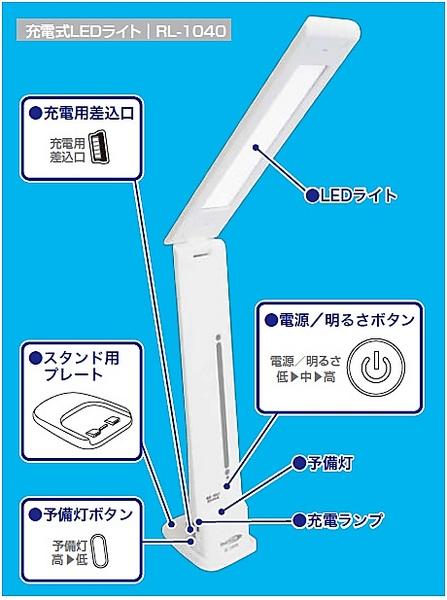 ★【新品】充電式LEDライトRL-1040