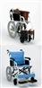 ★限定特価!FKアルミ高級車椅子(介助式)(388)チャコールブラウン