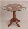 ★SHIP WHEEL TABLE ラダーテーブル(ガラス板付き)VN-106