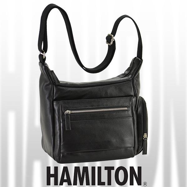 HAMILTON レザーショルダーバッグ 24cm #16393