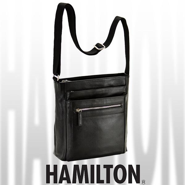 HAMILTON レザーショルダーバッグ 縦型 24cm #16392
