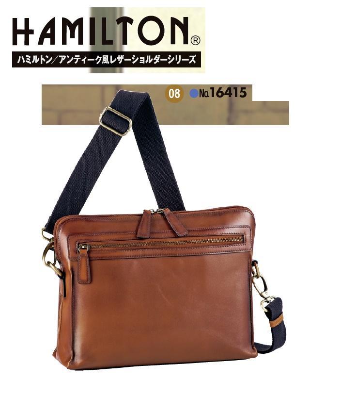 HAMILTON牛革ショルダーバッグ#16417