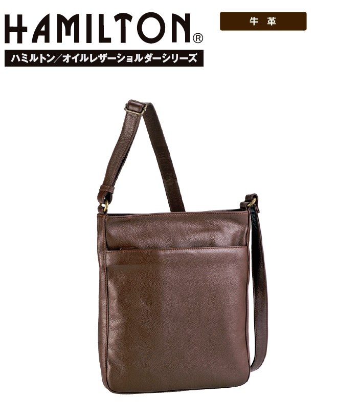 HAMILTON牛革ショルダーバッグ#16419