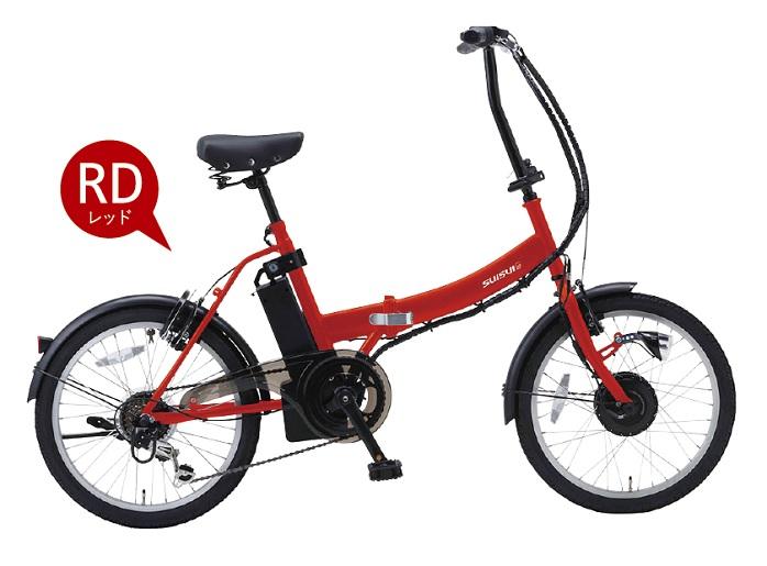 SUISUI 20インチ電動アシスト折畳自転車 6段変速BM-AZ300レッド