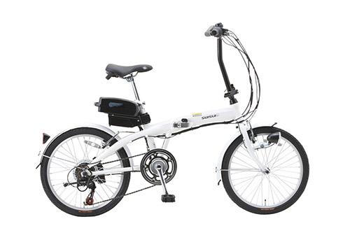 SUISUI 20インチ電動アシスト折畳自転車 6段変速 BM-A30WH