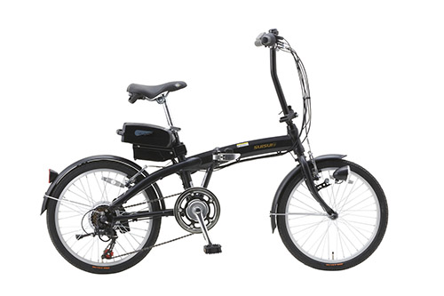 SUISUI 20インチ電動アシスト折畳自転車 6段変速 BM-A30BK