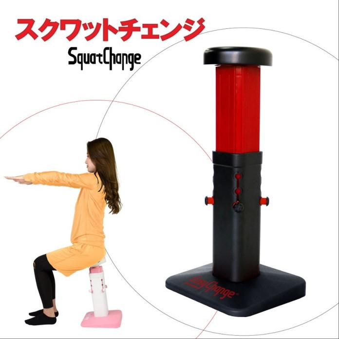 【新製品】スクワットチェンジ 腹筋 美脚 スクワット 下半身 ダイエット器具 フィットネス トレーニング EasyChange fit-squatchairsquare