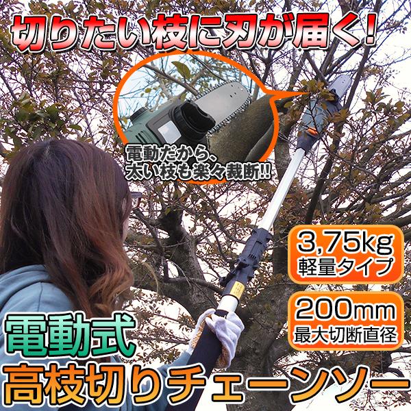 電動高枝切りチェンソー「高枝健太郎くん」ET1208