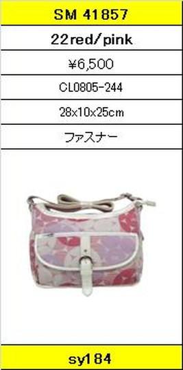 ★【卸小売り】★SAVOYサボイバッグ【SM 41857 22red/pink】