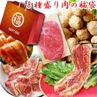 【送料無料】肉の福袋!総重量2kg(6種)超豪華福袋セット(しゃぶまる)国産牛ステーキ・とんかつ・豚味噌カルビ・ソーセージ・肉だんご・豚テリヤキステーキ