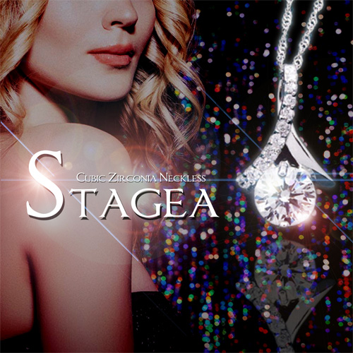 【STAGEA(ステージア)キュービックジルコニアネックレス】開運ネックレス