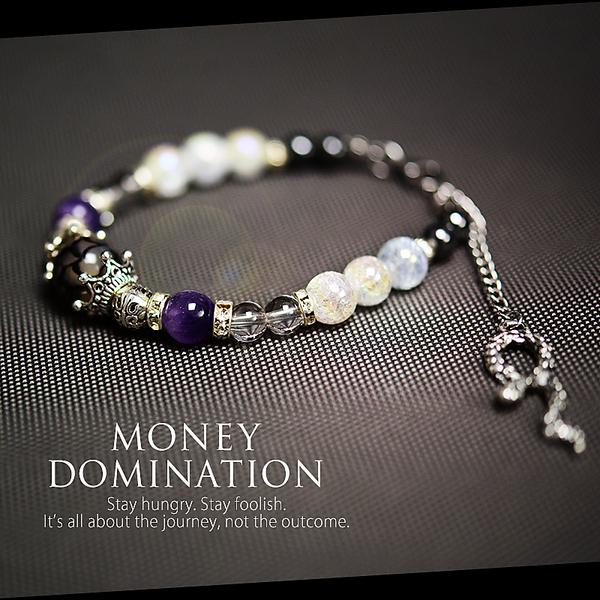 開運ブレス【Money Domination マネードミネーション】「龍」の鱗が剥がれ神白龍に
