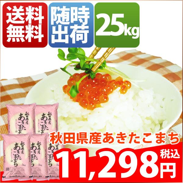 米 あきたこまち 25kg お米 安い 小分け 5kg 1等米 29年産 秋田県 白米 あきたこまち 送料無料 北海道・沖縄・九州・一部を除く